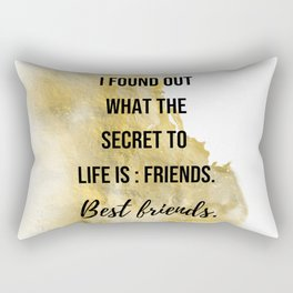 The secret to life - Movie quote collection Rectangular Pillow