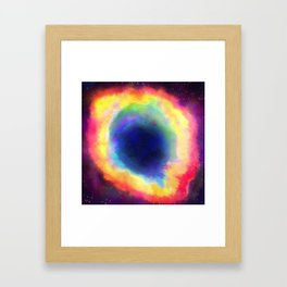 Donut Nebula Framed Art Print