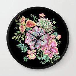 Watercolor Succulents #71 Wall Clock