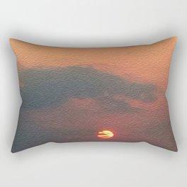 Dragon steals the Sun Rectangular Pillow