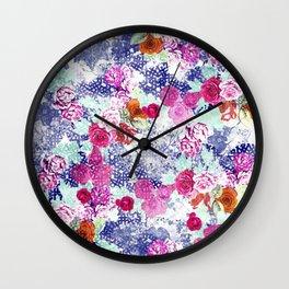 Floral Rococo Wall Clock