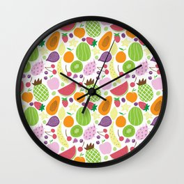 Juicy fruits Wall Clock