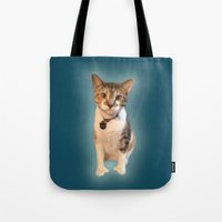 minnie Tote Bags featuring minnie by lilacattack