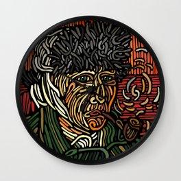 Selfportrait Van Gogh cover Wall Clock
