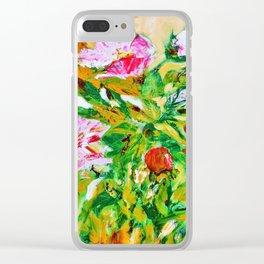wild roses bouquet Clear iPhone Case