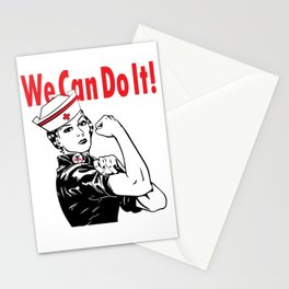 """RN NURSE """"WE CAN DO IT!"""" Stationery Cards"""