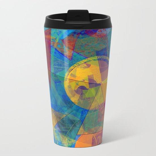 Modern Abstract Metal Travel Mug
