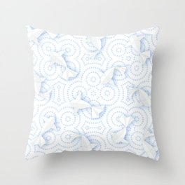 Origami Koi Fishes (Porcelain Version) Throw Pillow