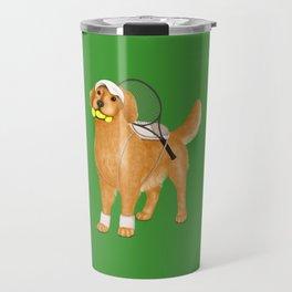 Ready for Tennis Practice (Green) Travel Mug