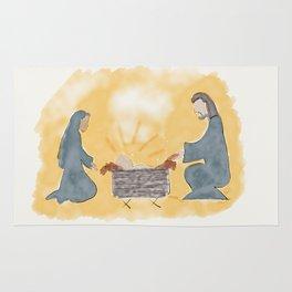 Away in a manger Rug
