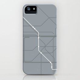 London Underground Jubilee Line Route Tube Map iPhone Case