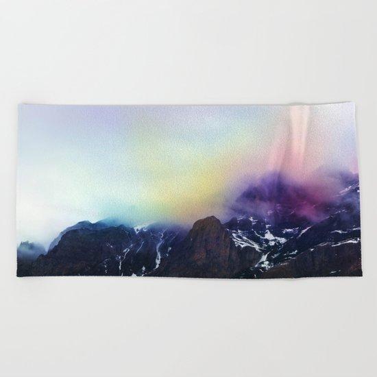 Mountain of Color Fog Beach Towel