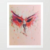 Red Owl. Art Print