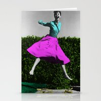 audrey Stationery Cards featuring Audrey by POP Prints by FMcLaws