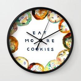Eat More Cookies  Wall Clock