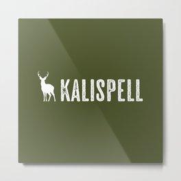 Deer: Kalispell, Montana Metal Print