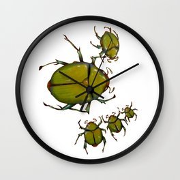Beetles and bees Wall Clock