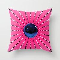 artrave Throw Pillows featuring artRAVE Gazing Ball by ARTPOPdesigns