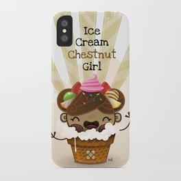 Ice Cream Chestnut Girl iPhone Case