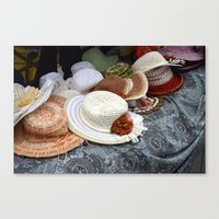hats Canvas Prints featuring Hats by L'Ale shop
