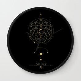 Aries Zodiac Constellation Wall Clock