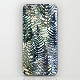 Watercolour Ferns iPhone Skin