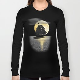 A ship with black sails Long Sleeve T-shirt
