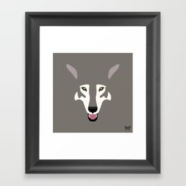 Gray Wolf (Tongues Out Project) Framed Art Print