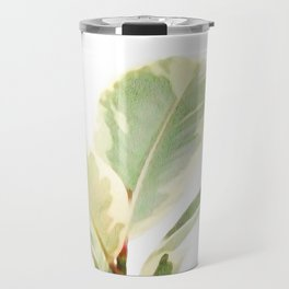 White Ficus elastica Travel Mug