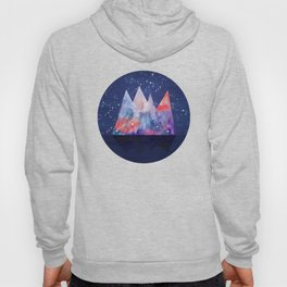 Mountains by night Hoody
