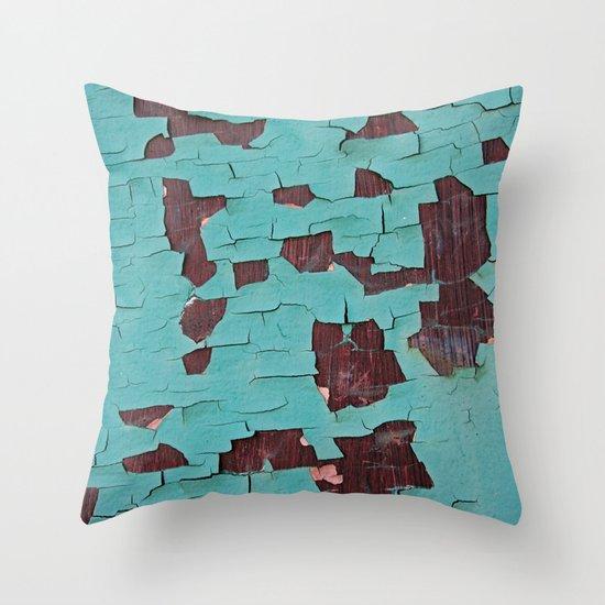 A Peeling Paint Throw Pillow