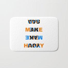 You make me Happy / Sad – reversibel Bath Mat