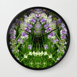 The Lavender Arch Wall Clock