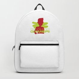 The Crazed Gamer Gaming Games Lover Madness Shirt Backpack