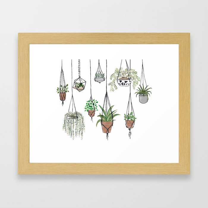 Hanging Plants Framed Art Print
