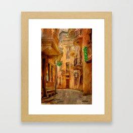 Italian City Street Framed Art Print