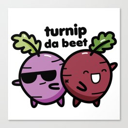 Turnip da beat Canvas Print