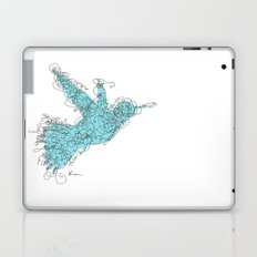 Bird Fly 1 - Aqua/Brown Laptop & iPad Skin