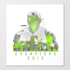 NBA CHAMPS MIAMI HEAT (LEBRON) Canvas Print
