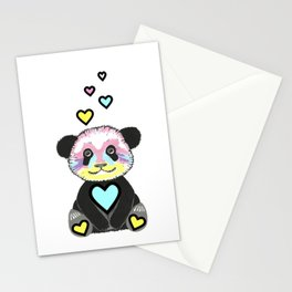 Whimsical Panda Stationery Cards