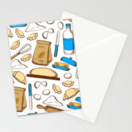 Bakery Food and Kitchen Stuff Stationery Cards