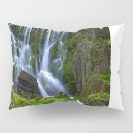 Waterfall in the mountain park Pillow Sham