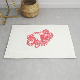 53. Henna Heart with Hidden Love Rug