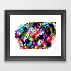 Beaded Bracelets Framed Art Print