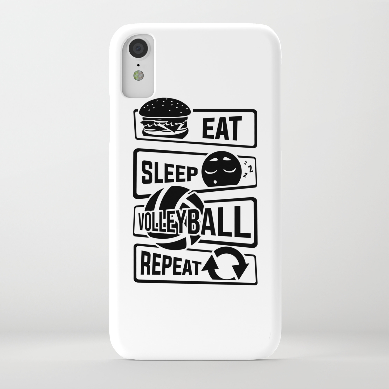 cheap for discount ca13e af11a Eat Sleep Volleyball Repeat - Ball Sports Team iPhone Case