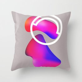 abstract fluid shapes no1 Throw Pillow