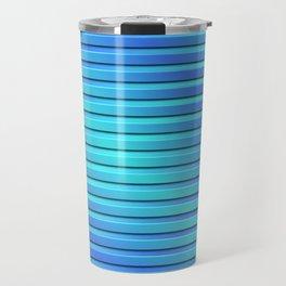Two Color 3D Slats Travel Mug