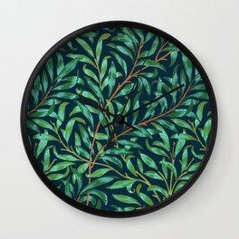 Midnight leaves Wall Clock