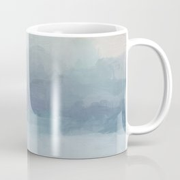 Blush Pink Mint Sky Baby Blue Abstract Ocean Sky Sunrise Wall Art Water Clouds Painting Print Coffee Mug