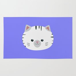 Black and White tiger cat Rug